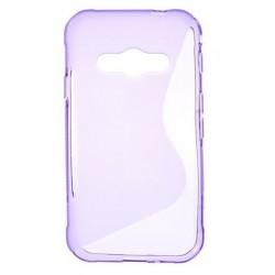 Protiskluzové gelové pouzdro pro Samsung Galaxy Xcover 3 G388F G389F, Barva: Fialová