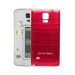 Samsung Galaxy Note 4 N9100 - Zadní kryt baterie - Hliník , Barva: Červená / bílá