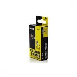 Casio KR-6YW1 originální páska do tiskárny štítků, žlutý podklad / černé písmo, 6mm