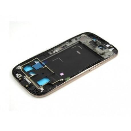Samsung Galaxy S3 i9300 - rámeček, černý střední díl, housing