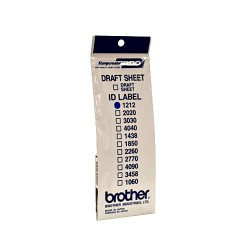 Brother ID-1212, stamp label with transparent cover, 12pcs (12x12mm)