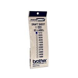 Brother ID-1212, štítok pečiatky s priehľadnou krytkou, 12ks (12x12 mm)