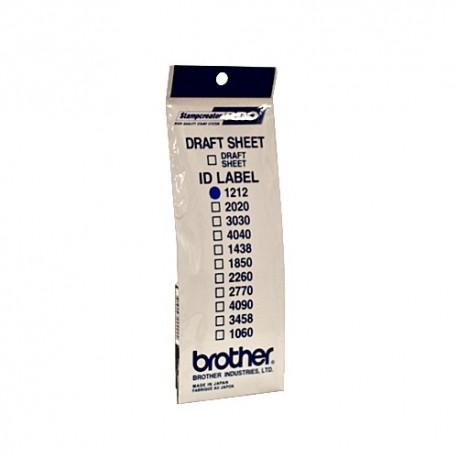 Brother ID-1212, štítek razítka s průhlednou krytkou, 12ks (12x12 mm)