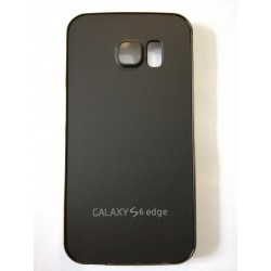 Samsung Galaxy S6 Edge - Black rear battery cover with aluminum frame