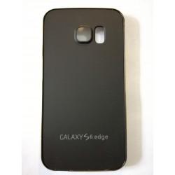 Samsung Galaxy S6 Edge - Černý zadní hliníkový kryt baterie s rámečkem