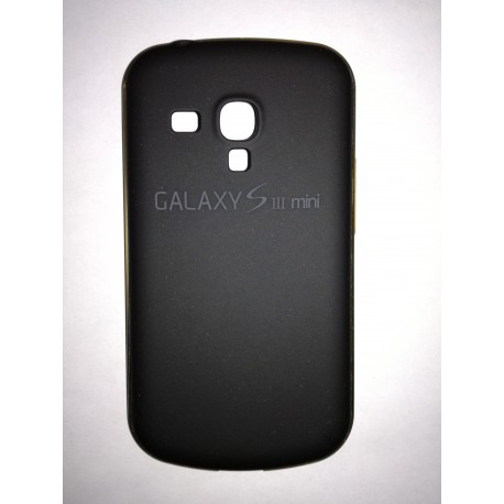 Samsung Galaxy S3 mini - Black rear aluminum battery cover with frame