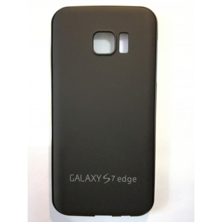 Samsung Galaxy S7 Edge - Black rear aluminum battery cover with frame