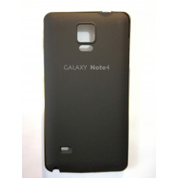 Samsung Galaxy Note 4 - Black rear battery cover with aluminum frame