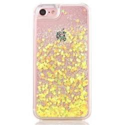 Apple iPhone 5 5S 5G - Přesýpací zadní kryt telefonu - Žlutá