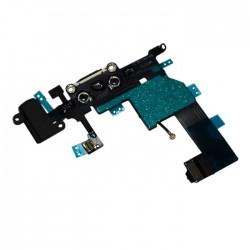 Nabíjecí konektor, audio konektor, kabel s mikrofonem pro Apple iPhone 5 - černá