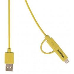 Valueline VLMP39400Y1.00 2v1 kabel USB / microUSB + Lightning