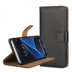 Samsung Galaxy S7 Edge G935F - Pouzdro Flip Wallet - Černá kůže
