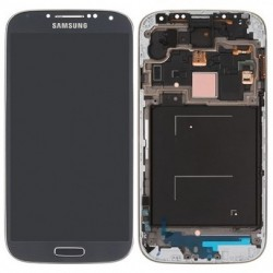 Samsung Galaxy S4 i9500 - Blue LCD display + touch pad with frame