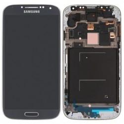 Samsung Galaxy S4 i9500 - niebieski wyświetlacz LCD + panel dotykowy z ramą