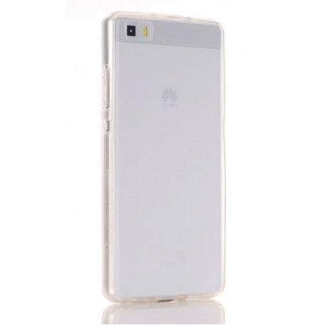 Front and back silicone cover Huawei P8 - transparent