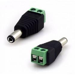 Złącze zasilania DC (męskie) - widelec zacisk 2,1 x 5,5 mm