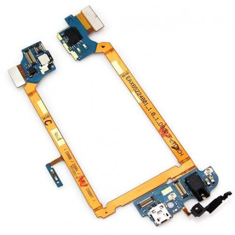Flex cable USB charging port (connector) + jack for LG G2 D800 D801 D803