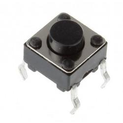 1-pólový spínací mikrospínač (6 x 6 x 4,5 mm)