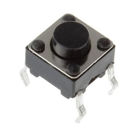 1-pole switching microswitch (6 x 6 x 4.5mm)