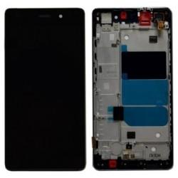 LCD displej + dotyková vrstva s rámečkem Huawei Ascend P8 Lite - Černá