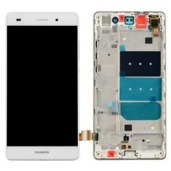 Huawei Ascend P8 Lite 2015 - Bílá - LCD displej + dotyková vrstva s rámečkem