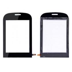 Alcatel OT720 - Čierna dotyková vrstva, dotykové sklo, dotyková doska + flex
