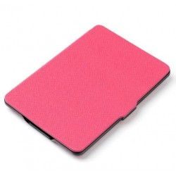 Kindle Paperwhite - pink Case reader of books - Magnetic - PU leather - an ultra-thin hard cover