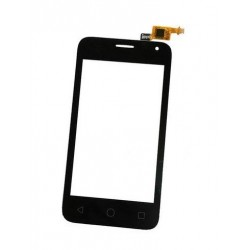 Alcatel One Touch Pixi 4024D 4024X - Czarny panel dotykowy, szkło kontaktowe, tabliczka dotykowa + flex