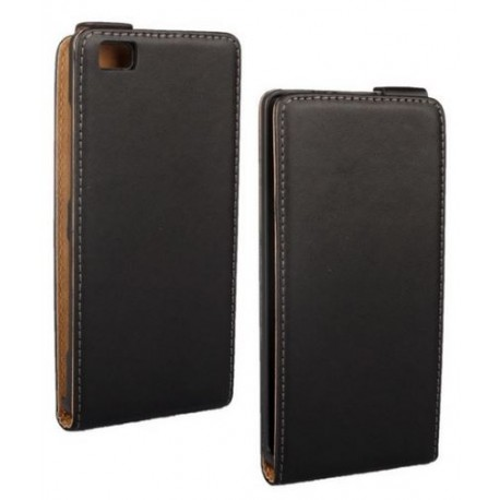 Huawei P8 Lite - Black leather case