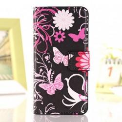 Pouzdro Samsung Galaxy S3 i9300 - motýli, květiny