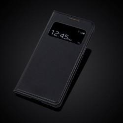 Skórzany pokrętło S-View Auto Sleep dla Samsung Galaxy S4 Mini i9190 i9192 i9195