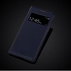 Kožený flip S-View Auto Sleep pro Samsung Galaxy S4 Mini i9190 i9192 i9195 - Kožený flip S-View Auto Sleep pro Samsung Galaxy S4 Mini i9190 i9192 i9195, Barva: Tmavě modrá