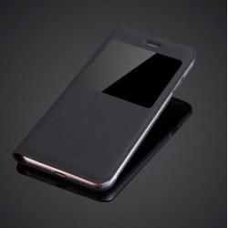 """Apple iPhone 7 (4.7"""") tenké flipové S-View pouzdro z PU kůže - černé"""