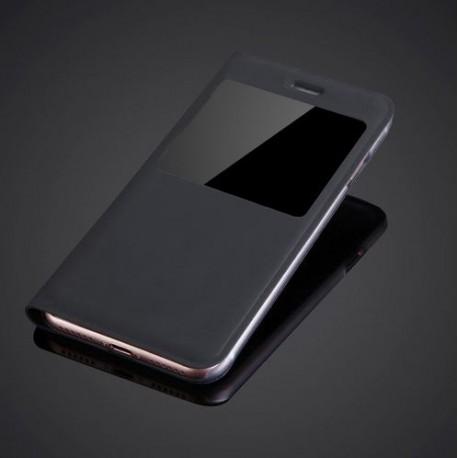 "Apple iPhone 7 (4.7"") Slim Flip S-View PU Leather Case - Black"