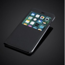 "Apple iPhone 7 Plus (5.5"") tenké flipové S-View puzdro z PU kože - čierne"