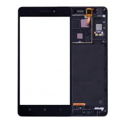 Lenovo A7000 - LCD with frame + touch pad, touch glass, touch pad - Black