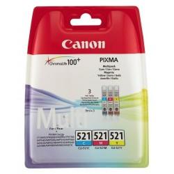 Canon CLI-521CMY - originální - Canon CLI-521CMY - originální, 505 stran, 3x9ml, Canon MP, 990 Canon MX 860, Canon MP 630