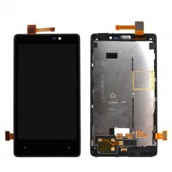 Nokia Lumia 820 - LCD z ramką + panel dotykowy, szkło dotykowe, panel dotykowy