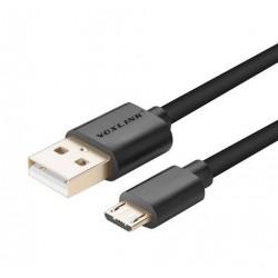 Voxlink dátový a napájací kábel micro USB 1m - čierny