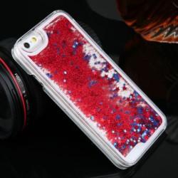 Apple iPhone 5 5S 5G - Přesýpací zadní kryt telefonu - Červený