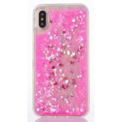 Apple iPhone X - Silicone back cover of the phone - pink