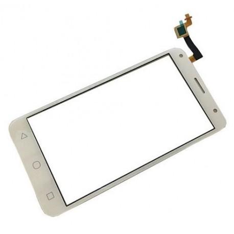 Alcatel One Touch Pixi 4 5.0 OT 5010 OT5010 5010D 50 - Bílá dotyková vrstva, dotykové sklo, dotyková deska + flex