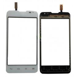 LG L65 D285 - Biela dotyková vrstva, dotykové sklo, dotyková doska + flex