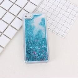 Apple iPhone 6 6S - Přesýpací zadní kryt telefonu - Modrý