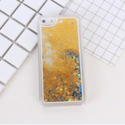 Apple iPhone 6 6S - Přesýpací zadní kryt telefonu - Zlatý