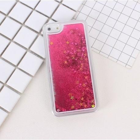 Apple iPhone 6 6S - Přesýpací zadní kryt telefonu - Růžový