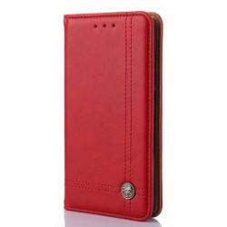 Asus Zenfone 5 A501CG A500KL - czerwona skórzana torba z PU