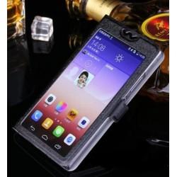 Samsung Galaxy S5 i9600 - čierne ochranné puzdro s oknom