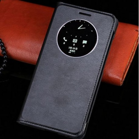 Asus Zenfone 5 A500KL A500CG A501CG - black flip pouch + protective film