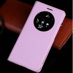 Asus Zenfone 5 A500KL A500CG A501CG - svetlo ružové flipové puzdro + ochranná fólia
